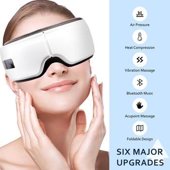 Inteligentny elektryczny masażer do oczu przeciwzmarszczkowy masaż oczu dla zmęczonych oczu kompresja powietrza masaż zdrowie i uroda maska do spania tanie i dobre opinie SALORIE CN (pochodzenie) Z tworzywa sztucznego Electric as picture show Maszyna wykonana Eye Massager Eye Massage Machine