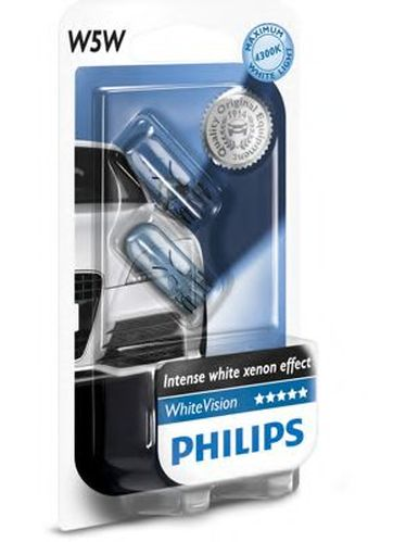 Lamp Halogen Philips W5w Whitevision 12V 5W B2 2pcs