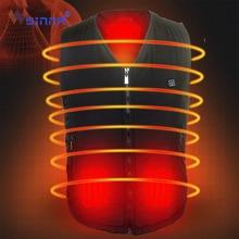 цена Best Gift Intelligent Thermal Heated Vest Three Block Temperature Control Heating Vest Waistcoat Men Women Winter Warm Clothing онлайн в 2017 году