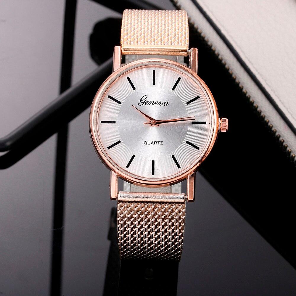 Women's Watches Quartz Watch Woman's Gold Rose High-end Blue Glass Life Waterproof Reloj Mujer Saat Relogio Zegarek Damski