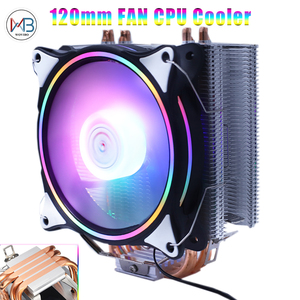 4/6 HeatPipes RGB CPU Cooler X79 X99 Motherboard 90mm 120mm 3Pin 4Pin quiet for LGA 1150 1151 1155 1366 2011 AM3 AM4 CPU Fan(China)