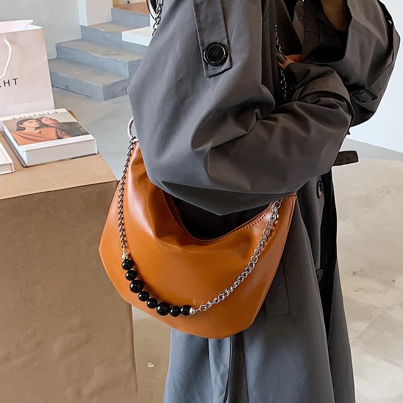 с доставкой Chain PU Leather Shoulder Bags Women 2020 Crossbody Handbags and Purses Female Travel Luxury Trending Cross Body Bag