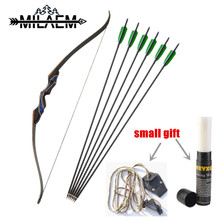 56 inch 20/25/30/35/40/45/50/55 lbs Recurve Bow Laminated Fiberglass Wooden Handle American Hunting With 6 pcs Arrows