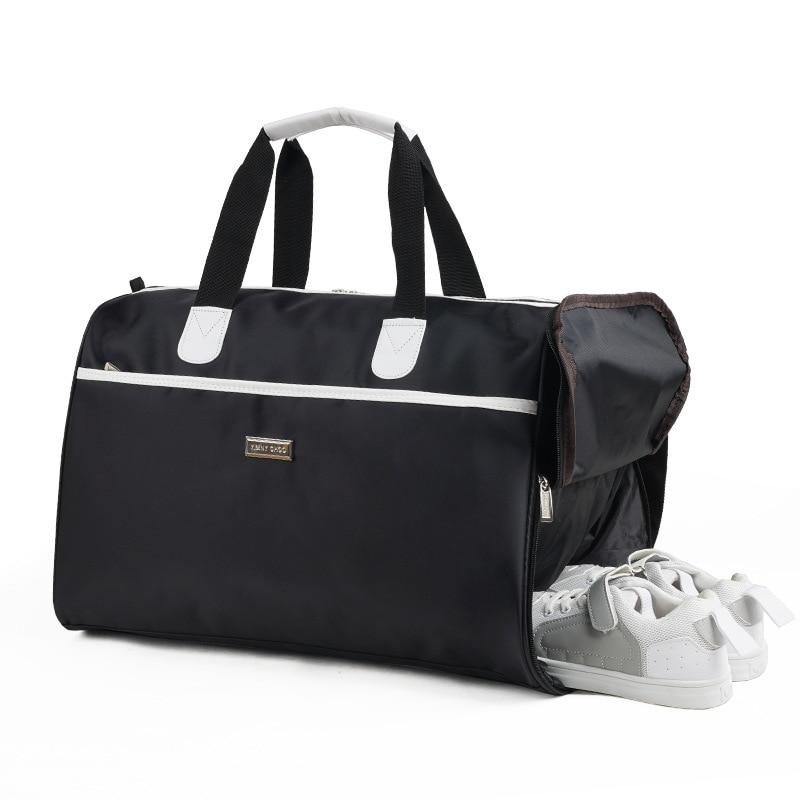 Factory Large Capacity Sports Leisure Bag Storage Women's Travel Bag Men's Folding Handbag Fitness Bag Strap Separate Shoes Bit