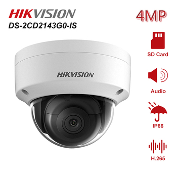 цена на Hikvision 4MP 2.8/4mm Fixed Lens Dome Network IP Camera DS-2CD2143G0-IS Weatherproof IP67 Night Vision IR Distance 30m H.265+