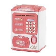 Password Piggy Bank Children Cute Music Light Fingerprint Unlock Automatic Toy R66D