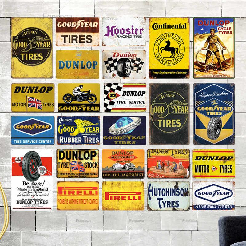 Dunlop Motor Tyres Retro Metal Wall Plaque Art Vintage Advertising Sign man cave