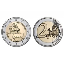 Portugal 2015 500th aniversário descoberta de timor leste 2 euro real moedas originais verdadeira coleção euro moeda comemorativa unc