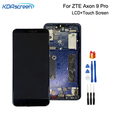 Amoled For ZTE Axon 9 Pro LCD Display Touch Screen Digitizer Repair Parts For ZTE Axon 9 Pro Screen LCD Display With Frame 4 7inch lcd display touch screen panel with frame digitizer accessories repair parts for lenovo s660 smartphone free shipping