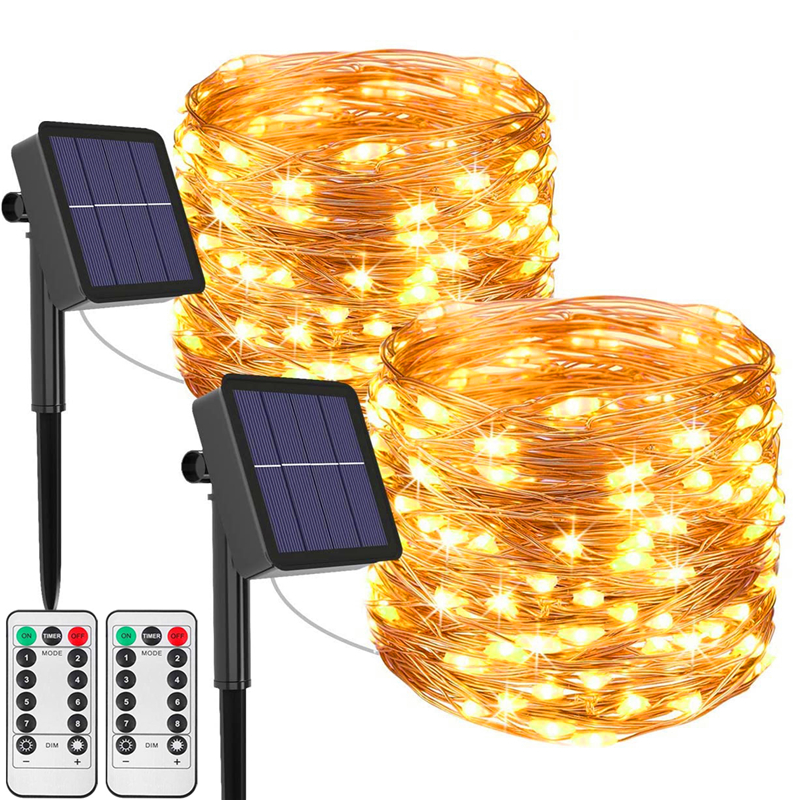 50/100/200/300/400 LED Solar Light Outdoor Lamp String Lights For Holiday Christmas Party Waterproof Fairy Lights Garden Garland(China)