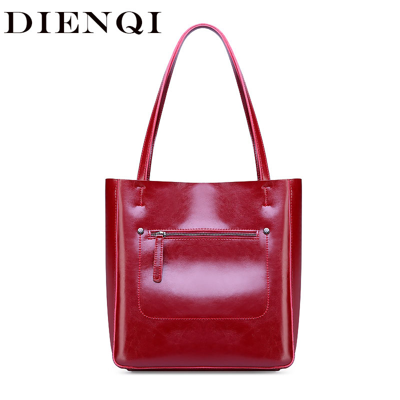 DIENQI Female Genuine Leather Big Shoulder Bag 2019 Fashion Luxury Handbags Women Bags Designer Tote Sac Bandouli Re Femme Luxe