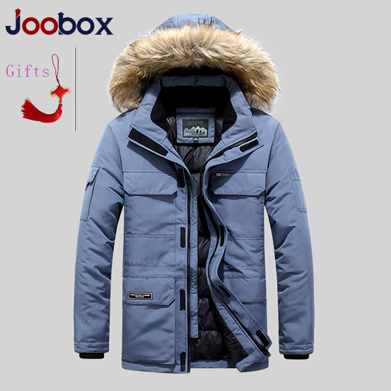 Grande taille mi longue veste d'hiver hommes coupe vent épais chaud col de fourrure hommes Parkas multi poches Outwear classique nouveaux manteaux