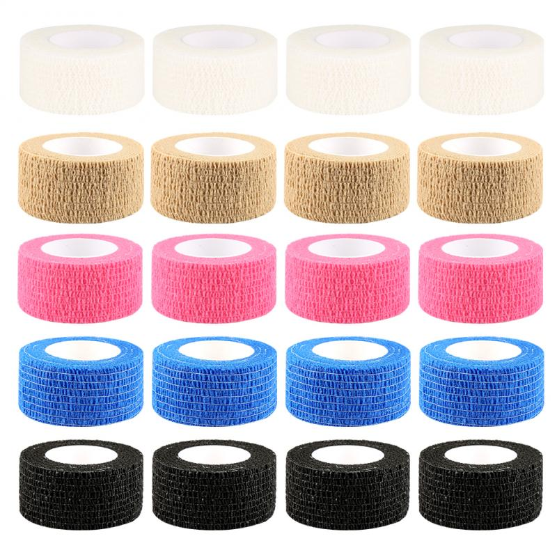 2.5cm*5M Self-Adhesive Elastic Bandage First Aid Health Care Treatment Gauze Tape Emergency Muscle Tape First Aid Tool