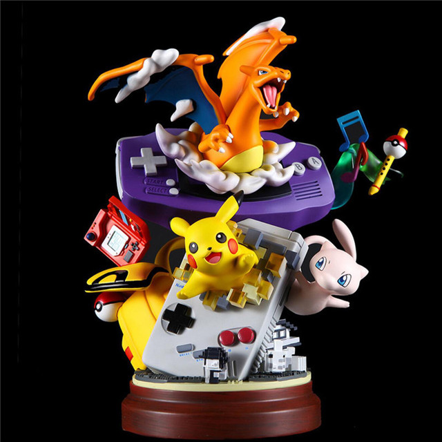 Anime New Charizard Resin Statue Figure Action Toys For Collection Gyarados Celebi Ho-Oh Lugia Chikorita Model Gift