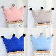 Soft Stuffed Plush toys pillow 45cm Crown Lumbar sofa cushion backrest Home Decoration