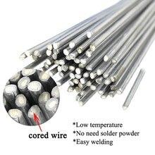 10pcs de baixa temperatura fácil derreter barras de solda de alumínio barras de solda fio fio fio fio haste de solda para solda sem necessidade de pó de solda