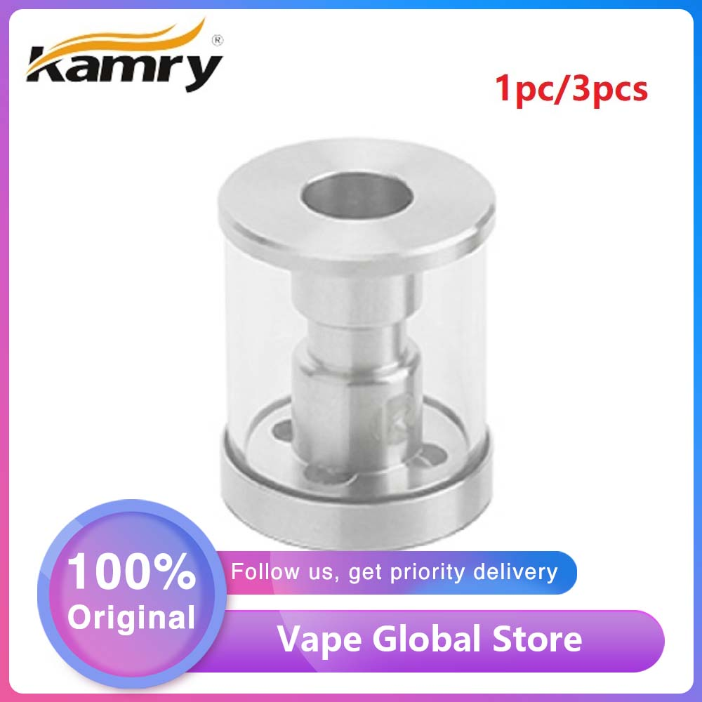 Original 1pc 3pcs Kamry Glass Tube 2ml/4ml Capacity E-cig Replacement Accessory For Kamry K1000 Plus EPipe Tank Vape Glass Tubes
