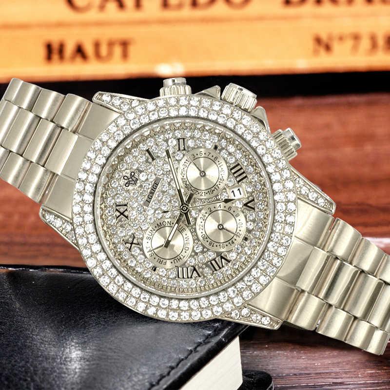 Популярные Роскошные часы с бриллиантами, ювелирные изделия, стильные модные часы для мужчин, rolexable, водонепроницаемые, AAA часы для мужчин, Iced Out, мужские часы, 2019 Новинка
