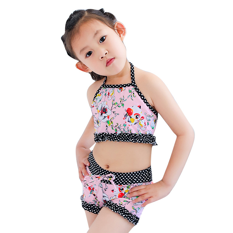 KID'S Swimwear GIRL'S Split Type Boxer Small Middle And Large Girls Princess Du Dou Shi Tour Bathing Suit Baby Bikini Hot Spring