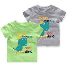Cartoon Animal Print Dinosaur Children T-shirt Boy 2020 Boys Letter Cute T Shirt Girls Tops Cartoon Kids Tshirt Clothes 2-5 Yrs girls cartoon and letter print top