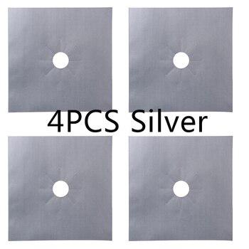 4pcs silver