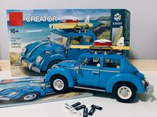 Volkswagen Beetle Creator Expert Compatible with Iegoset 10252 Building Blocks Bricks Classic Cars Model toys gifts 21003 945pcs creator expert winter holiday toy shop 39015 diy model building kit blocks gifts children toys compatible with lego