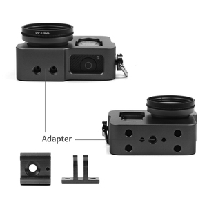 Image 4 - SHOOT Aluminum Frame Case Housing Case Cage for GoPro Hero 4 Black Silver With UV Filter Lens Cap Housing Case Camera Accessory