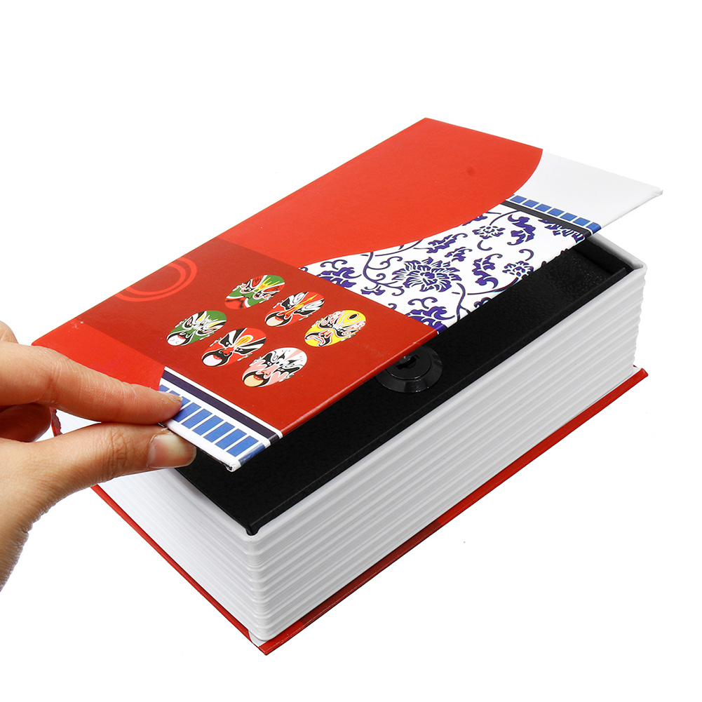 Cash Money Home Password Key Safe Lock Birthday Gift Secret Security Box Chinese Style Jewelry Storage Dictionary Book Practical