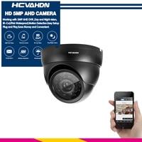 HCVAHDN 5MP HD Analog camera CCTV Camera TVI/AHD/CVI/CVBS Switch 4 IN 1 Black Security Dome Camera 3.6mm Surveillance Camera