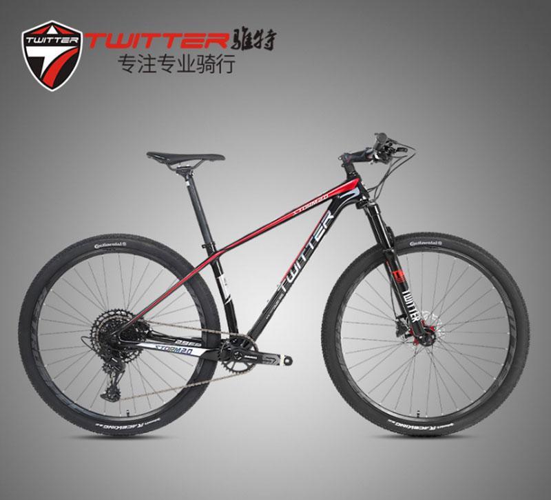 TWITTER-Bicicleta de Montaña de carbono Storm2.0, 29 SRAM, 12 velocidades, 27,5er, 650B, MTB 29, bicicleta de carbono descolorida