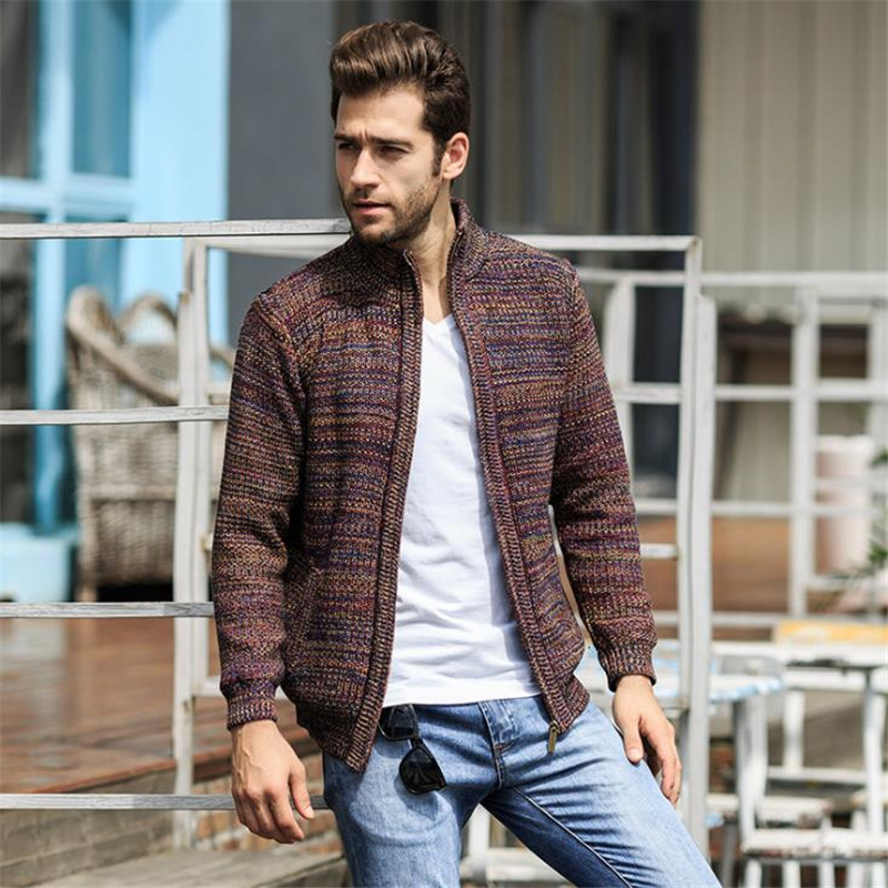 Men Sweaters Coat Winter Warm Men's Fashion Cardigan Sweater High Quality knitting Male thick Sweater Long sleeve