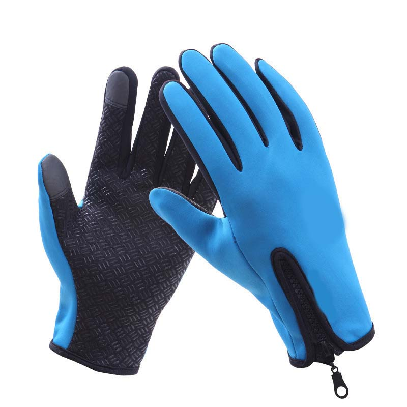 Outdoor Warm Gloves Winter Riding Waterproof Sports Non-slip Five-finger Gloves