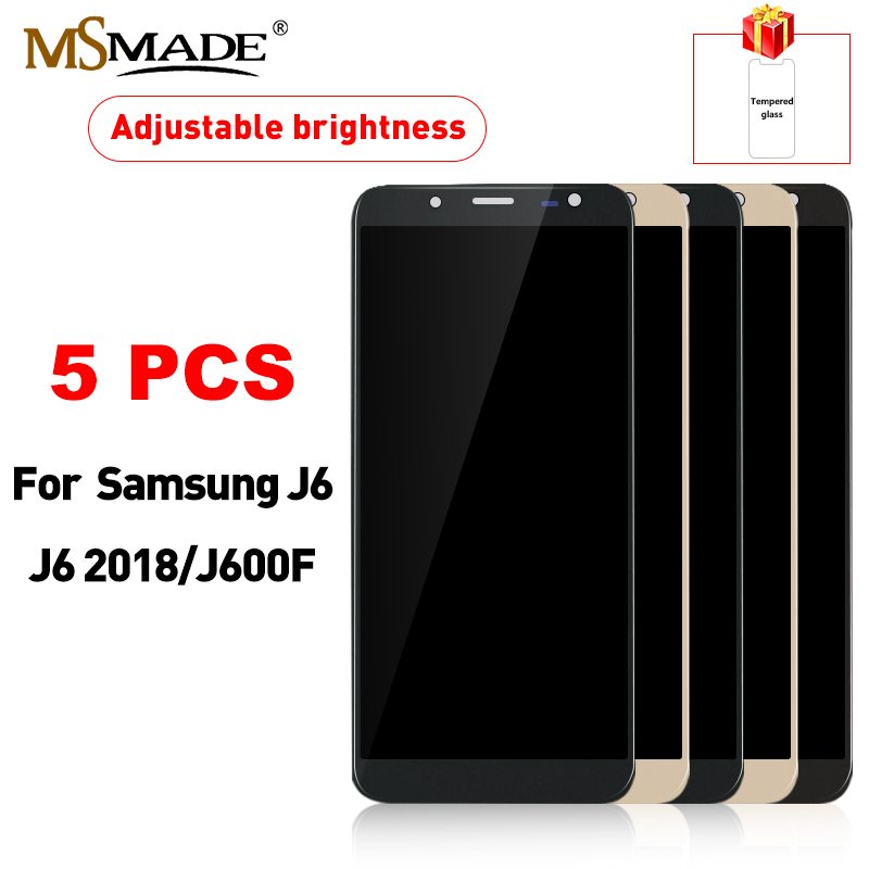 5 PCS LCD For Samsung Galaxy J6 2018 J600 LCD Display Touch Screen Replacement Part For Samsung J600F / DS J600G /DS J6 LCD