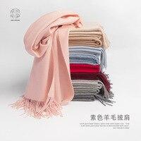 100% Wool Blanket scarf Multi function Tassel Shawl New Fashion Winter scarf women High quality Keep warm Wool Cashmere scarf
