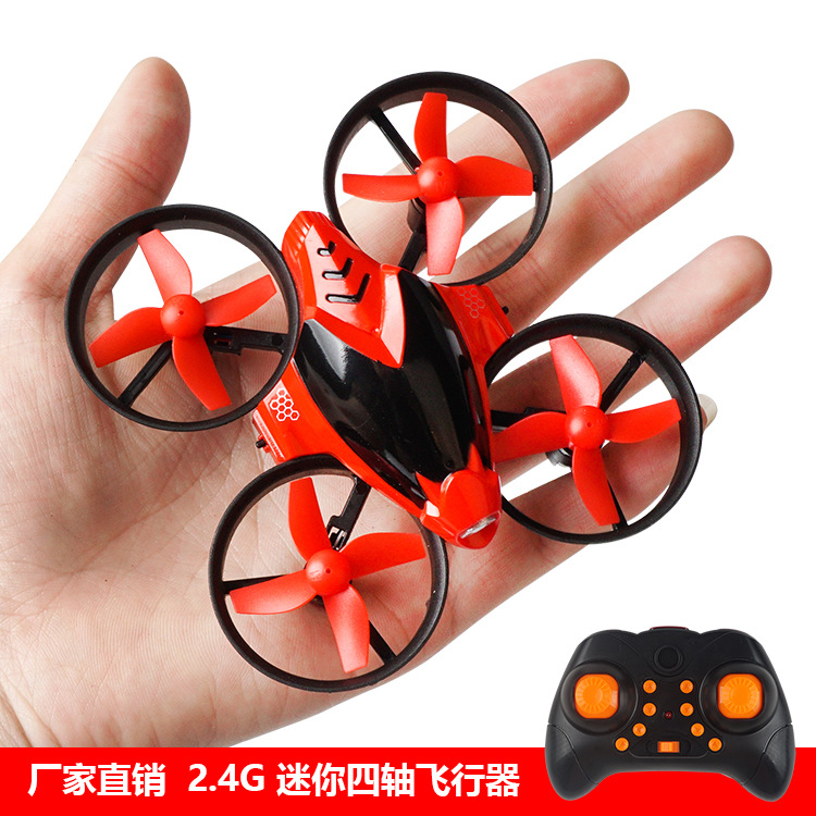 2.4G Drone 2018 Remote Control Mini Quadcopter Cool Lights A Key Return Unmanned Aerial Vehicle Toy