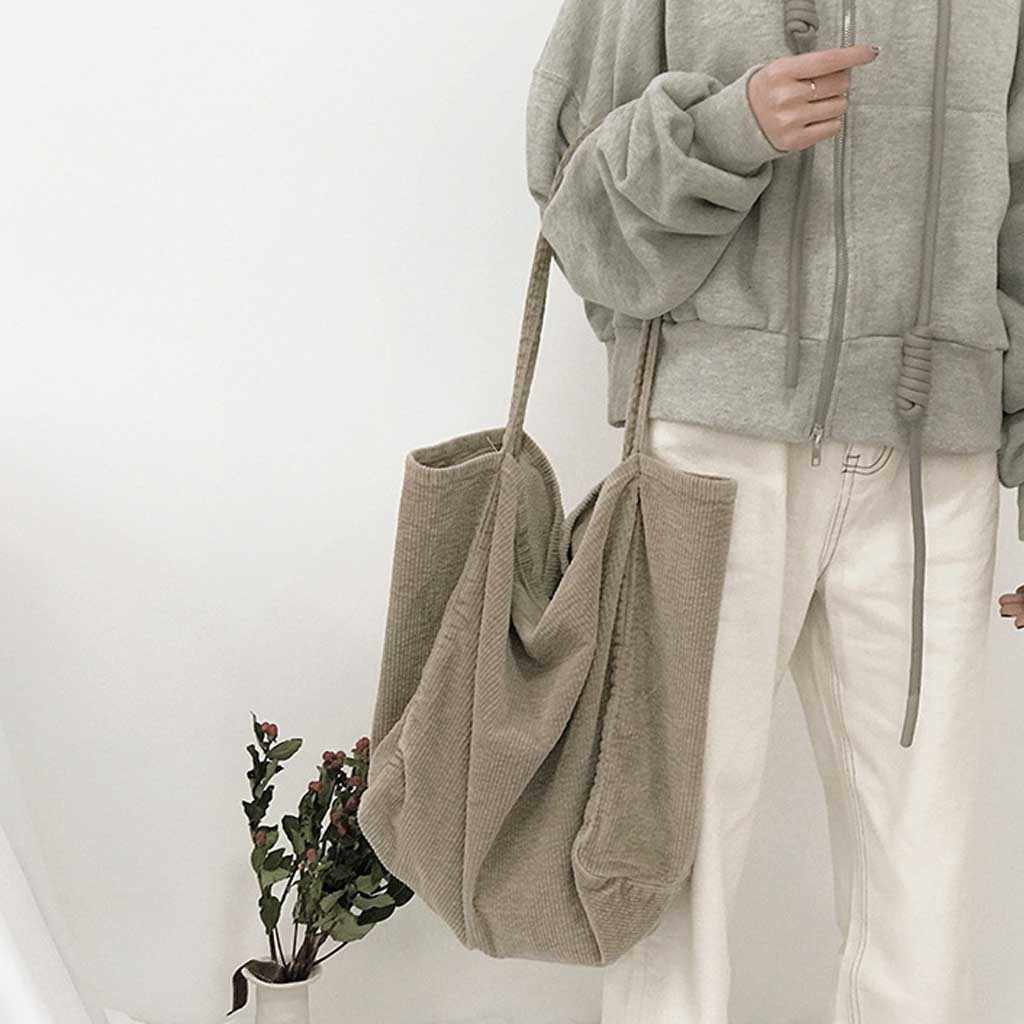 Bolsa de ombro de veludo sólida bolsa de compras tote pacote crossbody bolsas bolsas bolsa casual para mulher mensageiro bookbag