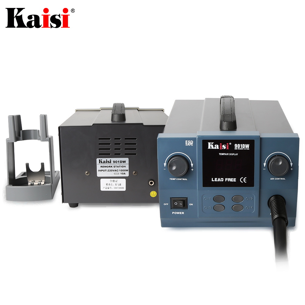 Original Hot Air  Station Kaisi temperature Heat Soldering 901DW Free Lead Rework Professional microcomputer Station 1000W Gun