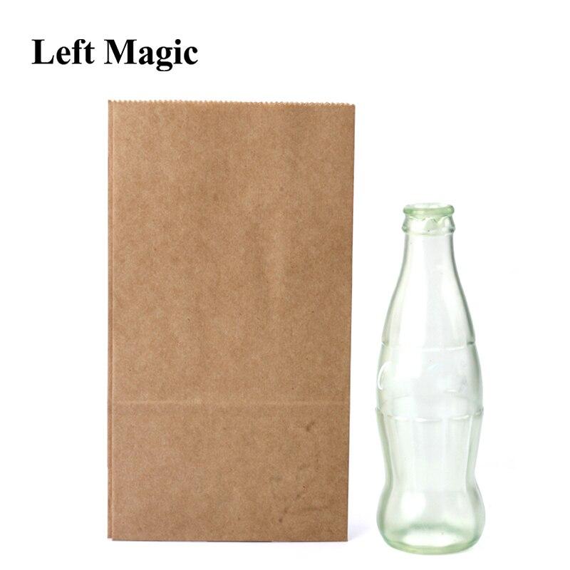 Fuga cole garrafa vazio truques de magia coque estágio close-up ilusões acessórios mentalismo diversão adereços mágicos brinquedo clássico gimmick