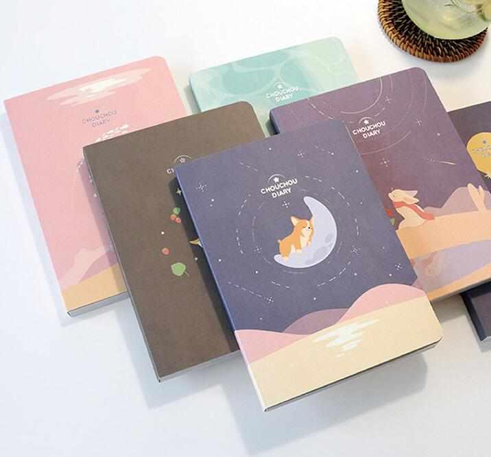 2020 милый дневник с животными 13 см * 18 см цветной ежемесячный планировшик на неделю 160P Бесплатная доставка