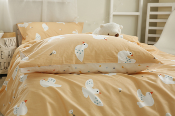235cm breadth Red - nosed pigeon cotton Xinjiang long staple cotton cartoon pattern quilt cover sheet set single piece fabric