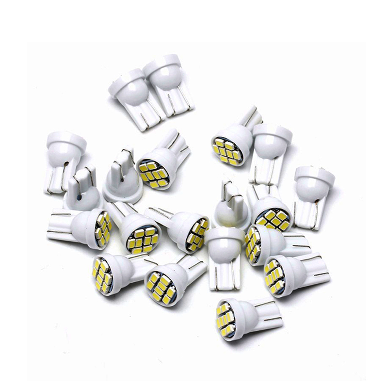 10x Super Brihgt White LED Bulb T10 W5W Car Interior Dome Light 12V Auto Clearance License Plate Instrunment Reading Lamps 5W5