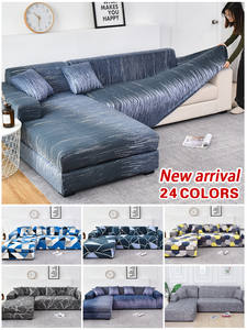 Sofa-Cover Loveseat-Corner Need-Order Living-Room Elastic Sectional L-Shape Cotton 2pieces