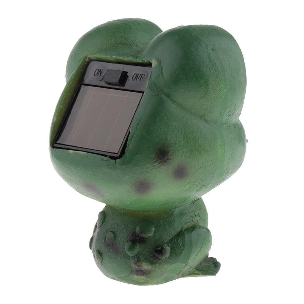 Giardino solare HA CONDOTTO LA Statua Animale-Bella Rana Verde Giardino Scultura In Resina Statua Cortile di Arte All'aperto Arredamento