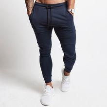 Брюки мужские повседневные, джоггеры, спортивные штаны для спортзала, фитнеса, бодибилдинга, тренировок, хлопковые, спортивная одежда