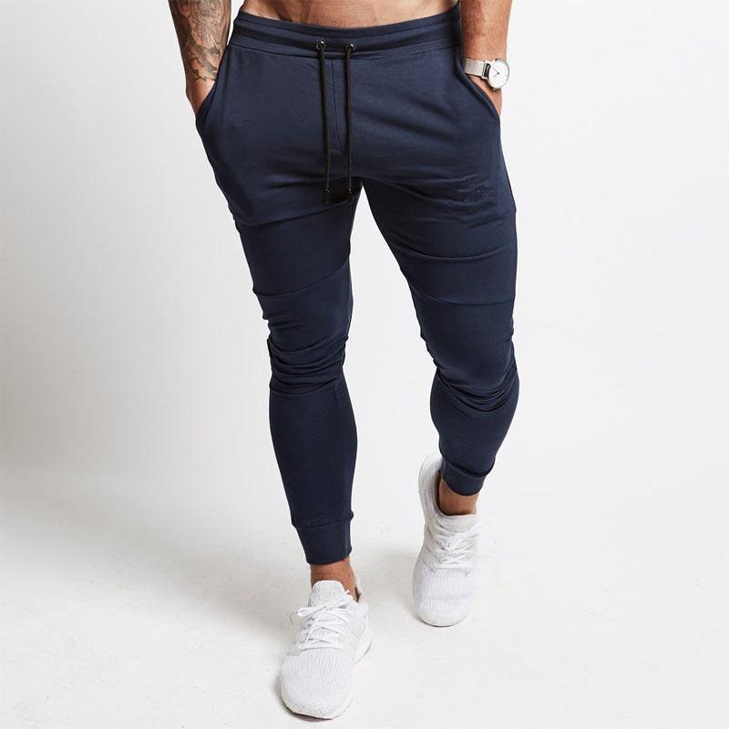 Casual Pants Men Jogger Sweatpants Gyms Fitness Bodybuilding Workout Cotton Trousers Sportswear