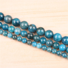 Apatite 4/6/8/10/12mm Natural Gem Stone Polished Smooth Round Beads For Jewelry Making DIY Bracelets