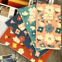 1pcs/lot New Retro Flowers Series Blank Kraft Paper Notebook Vintage DIY Bullet Journal Pocket Papelaria