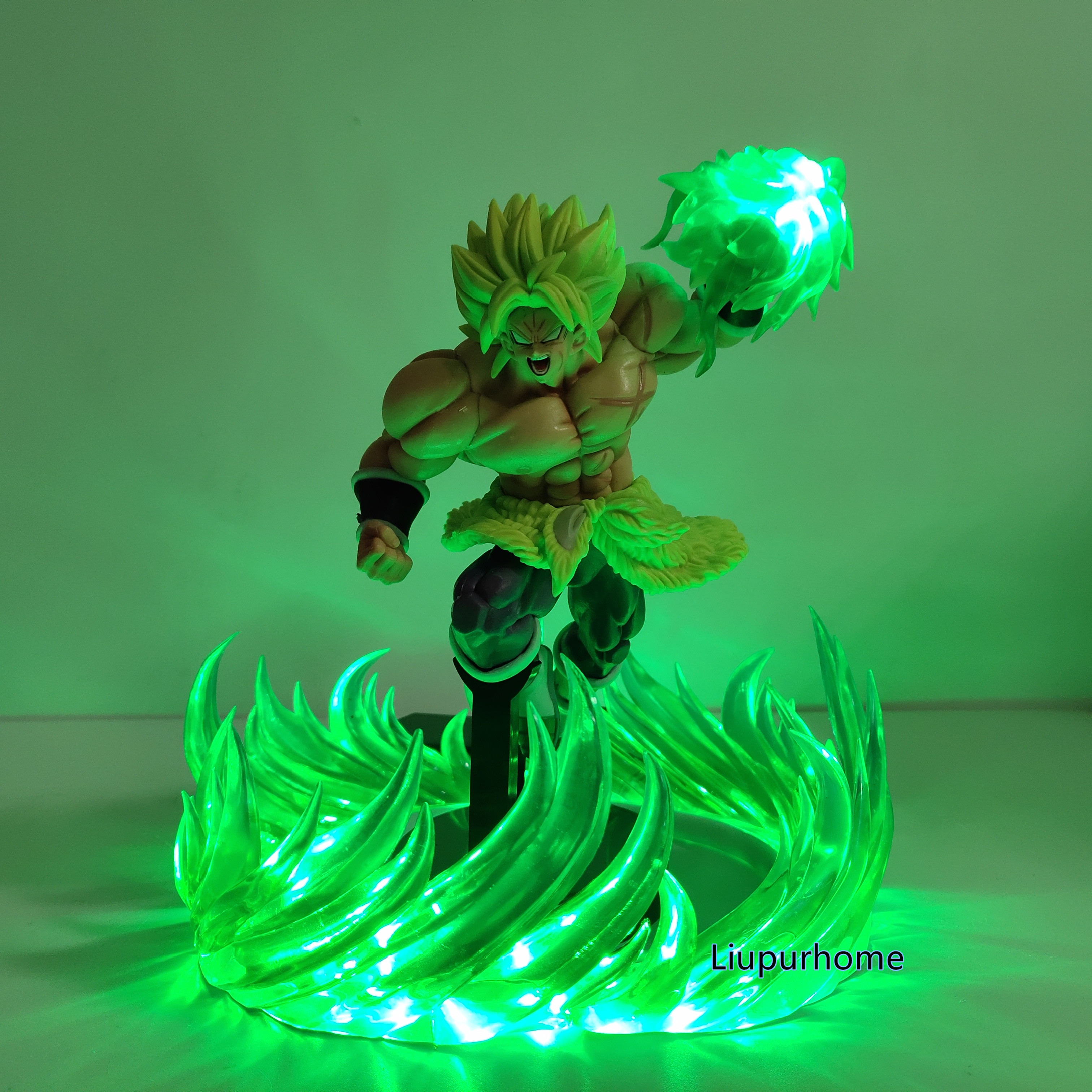 Lampara Broly Dragon Ball Lamp Super Saiyan Green Power Led Lighting Dragon Ball Super Broli Lamparas DBZ