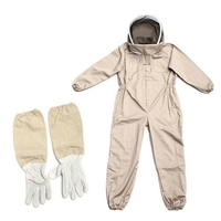 SZS Hot Professional Ventilated Full Body Beekeeping Bee Keeping Suit with Leather Gloves