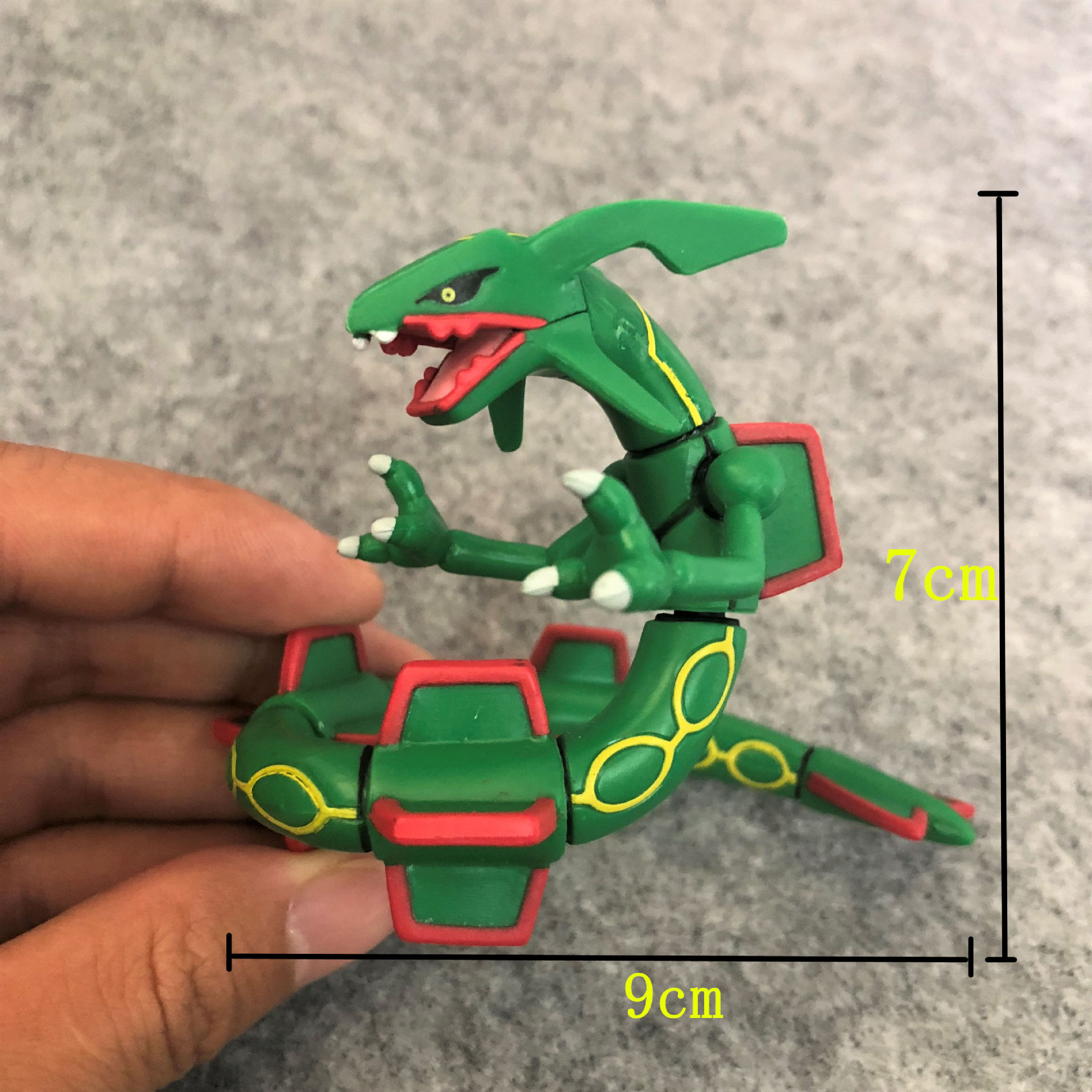 TAKARA TOMY Pokemon Rayquaza skylung Joint movability anime action & toy figures model toys for children